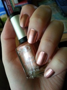 KIKO mirror nail lacquer copper
