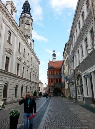 Geradezu: der Schönhof, das älteste Renaissance-Bauwerk in Görlitz in der Brüderstraße. Ebenfalls in The Grand Budapest Hotel zu sehen.