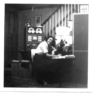 Photo of Mary Allen Wilkes - With the LINC computer at Home - 1965, Source