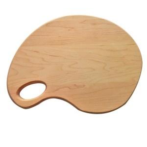 artist pallet, custom cutting board