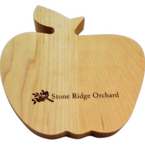small apple, custom cutting board