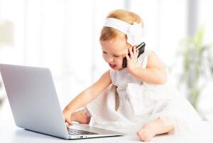 Вред телефона для детей