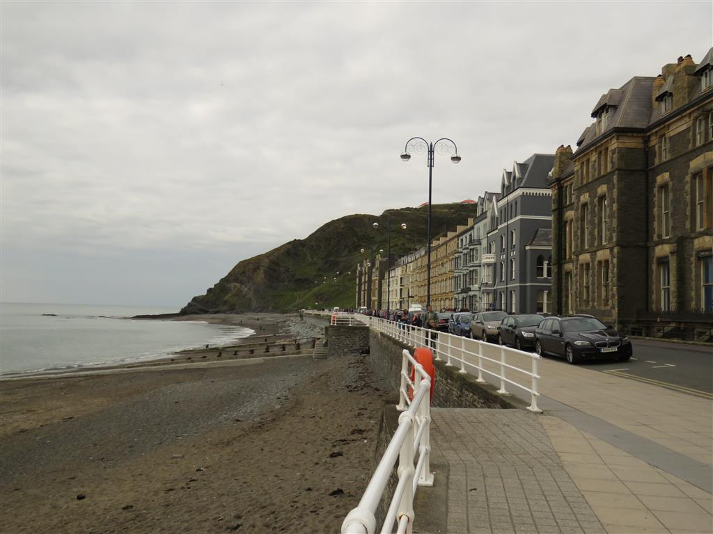 Along the seafront, Aberystwyth, Wales