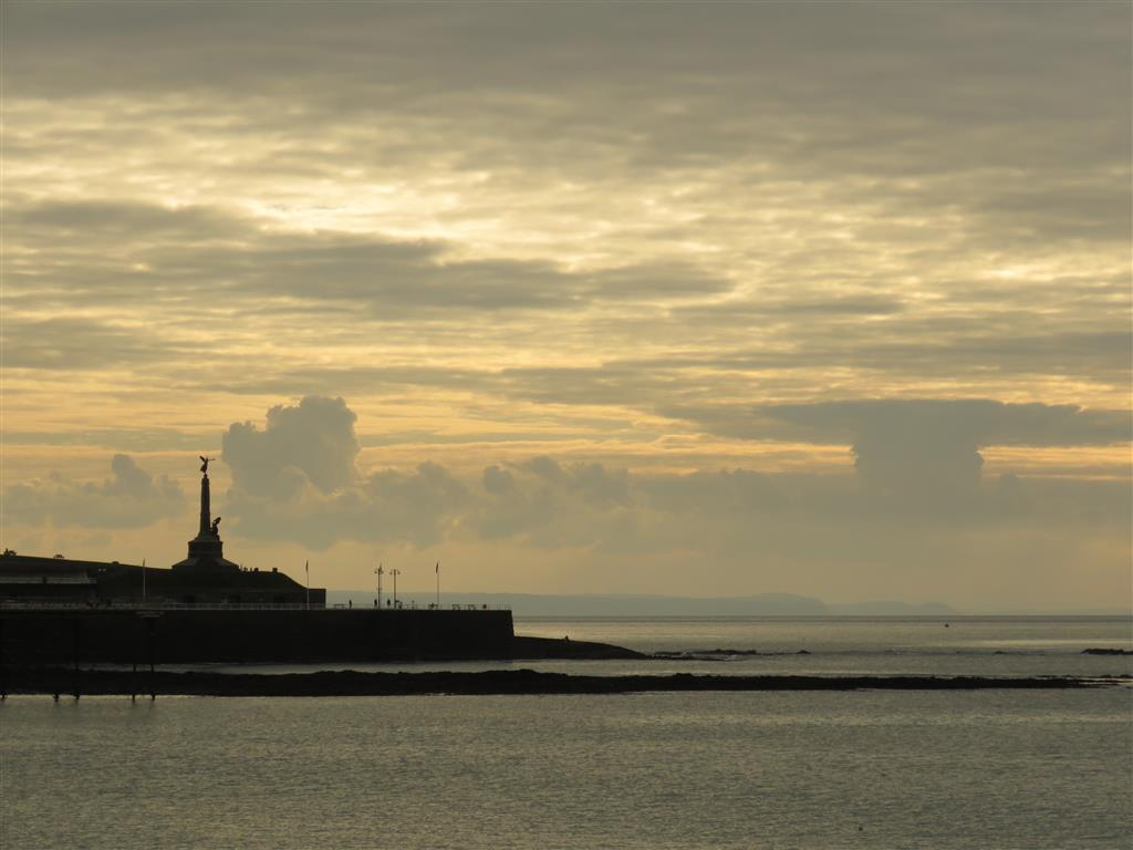 Sunset over Aberystwyth, Wales