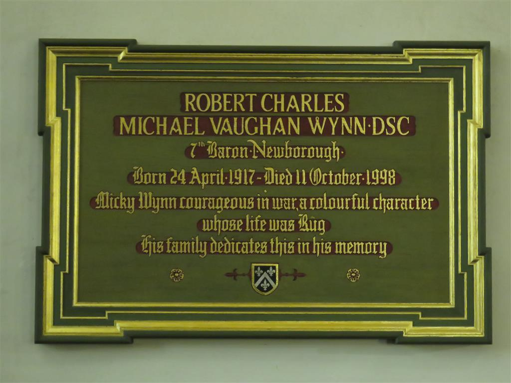 Robert Charles Michael Vaughan Wynn, 7th Baron Newborough