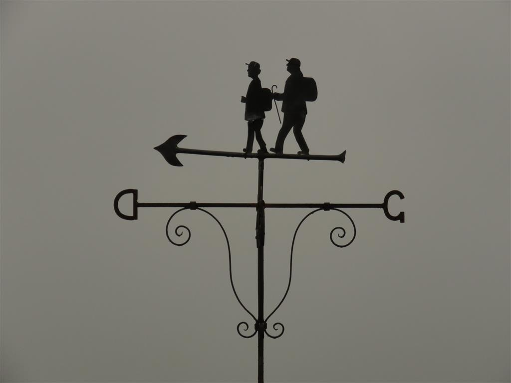 Walking weather vane, Staylittle, mid Wales