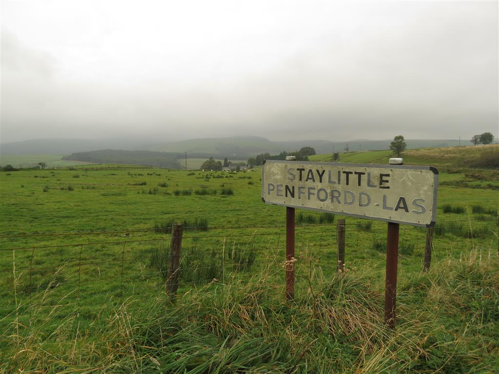 Visiting Staylittle, mid Wales