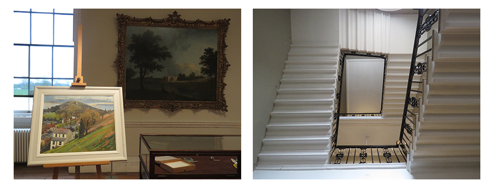 The Interior of the National Trust's Croome Court, a British stately home in the English countryside.