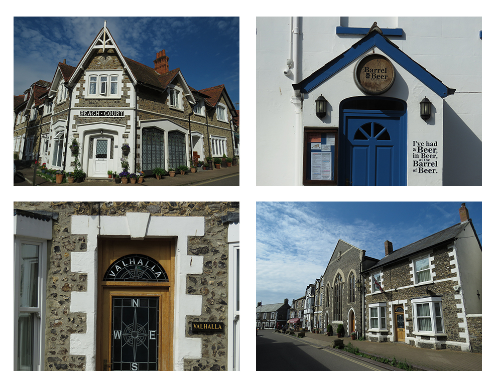 Collection of photos showing buildings around Beer, Devon.