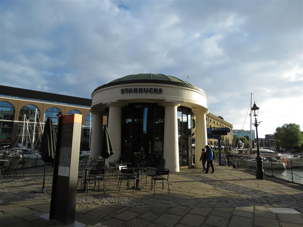 Starbucks, St. Katharine Docks, London