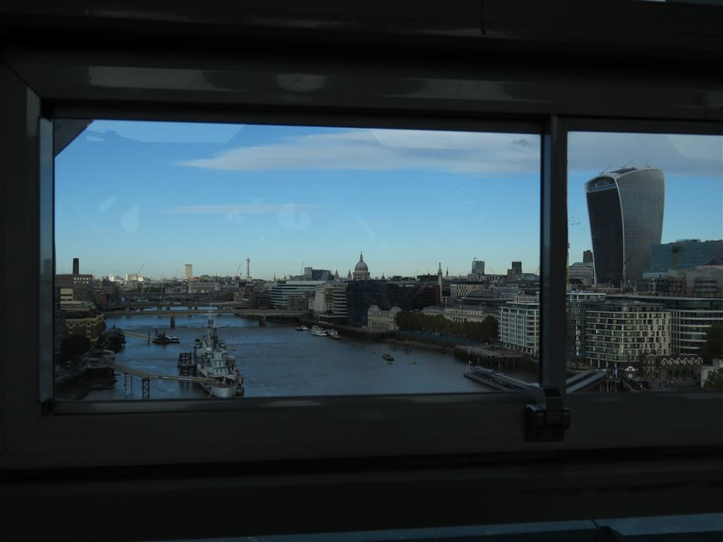 View from Inside Tower Bridge, London