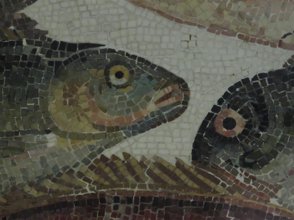 Roman mosaic, Enlightenment Gallery, British Museum, London
