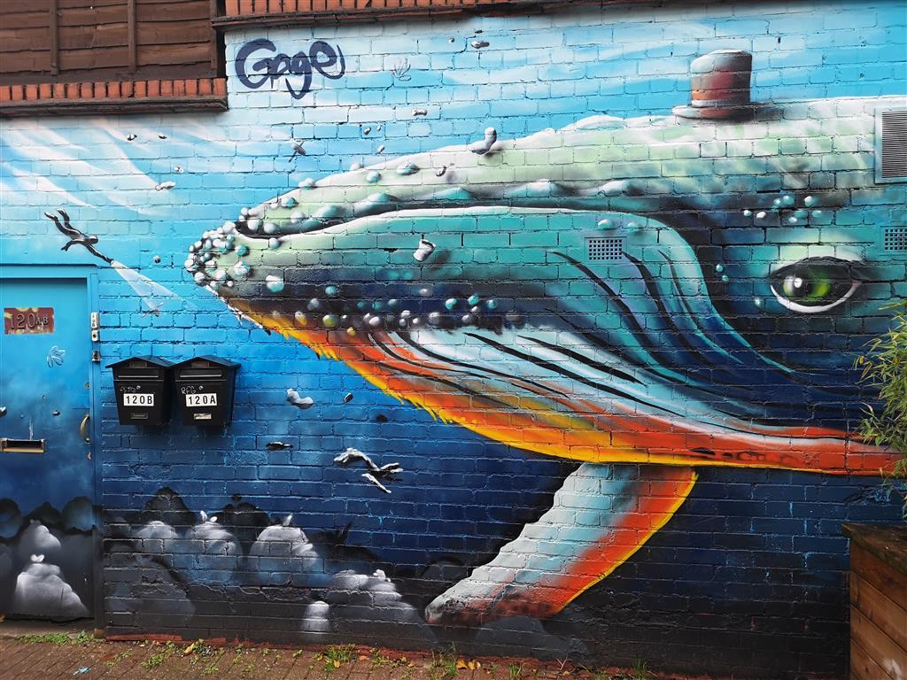 Whale Street Art, Bedminster, Bristol