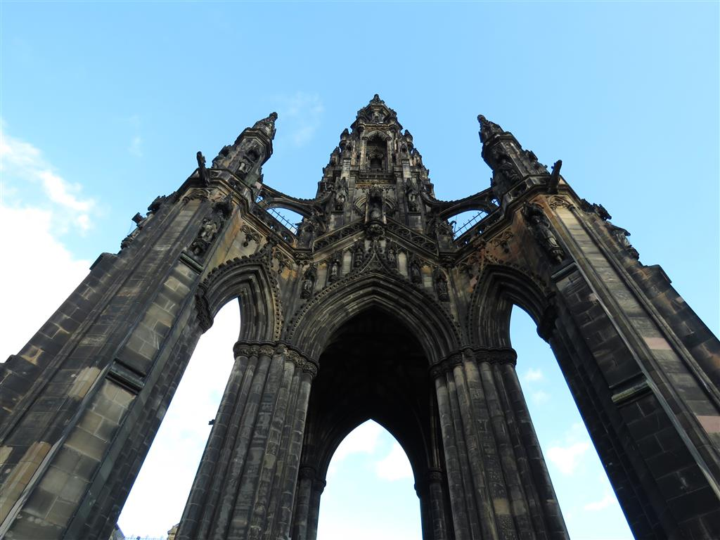 Visiting the Scott Monument, Edinburgh, Scotland