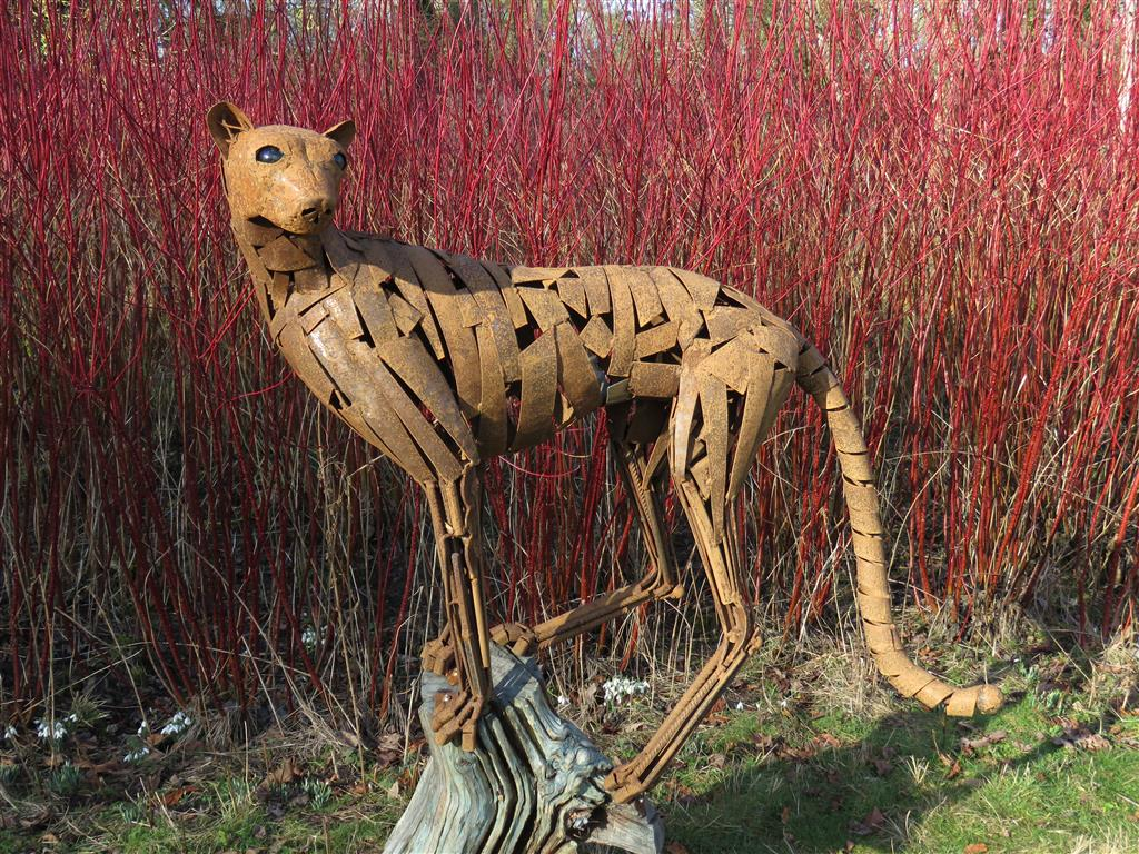 Cheetah sculpture at Welford Park, Berkshire