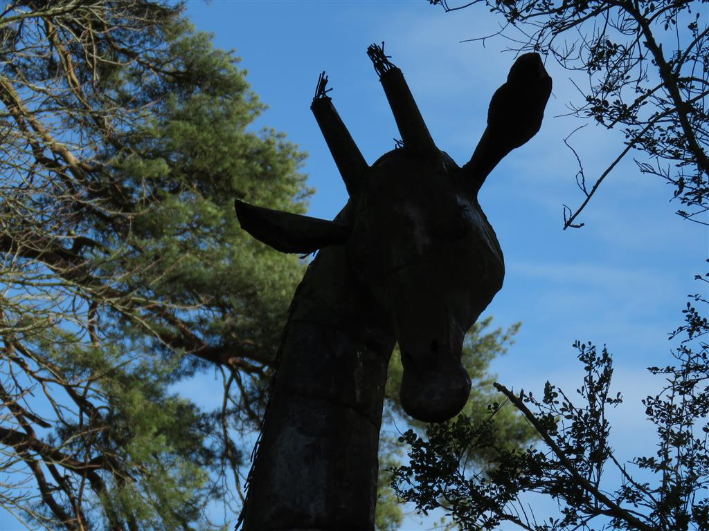 Giraffe sculpture at Welford Park, Berkshire