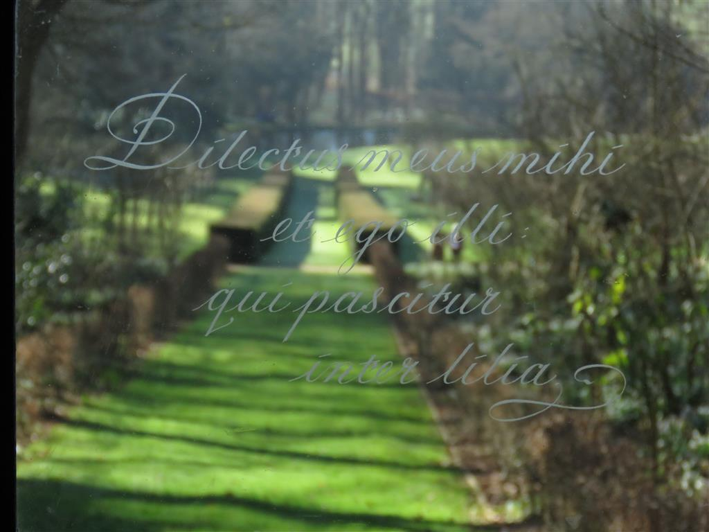 Glass Engraving, Painswick Rococo Garden