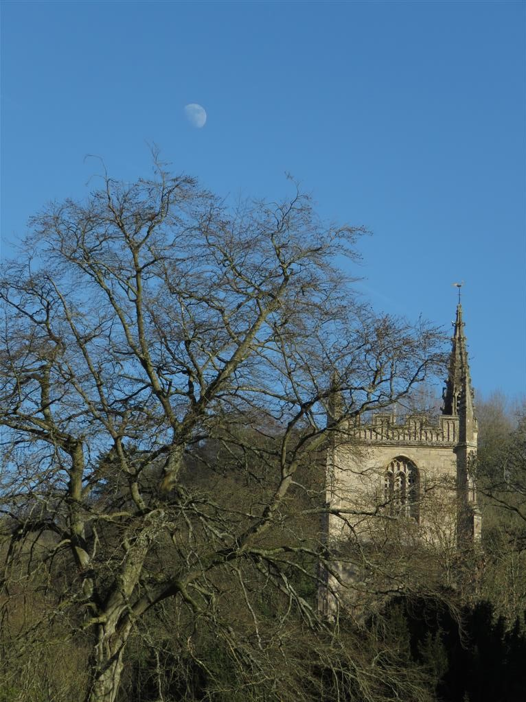 Church and Moon, Castle Combe, Wiltshire