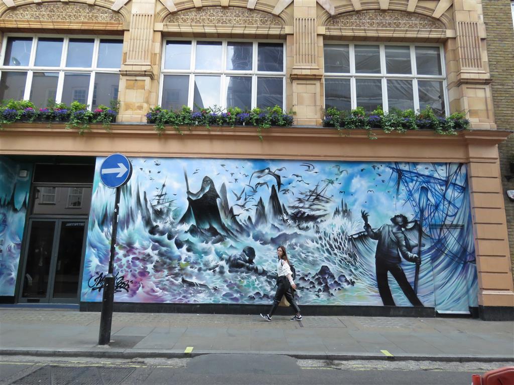 Street art in Soho, London
