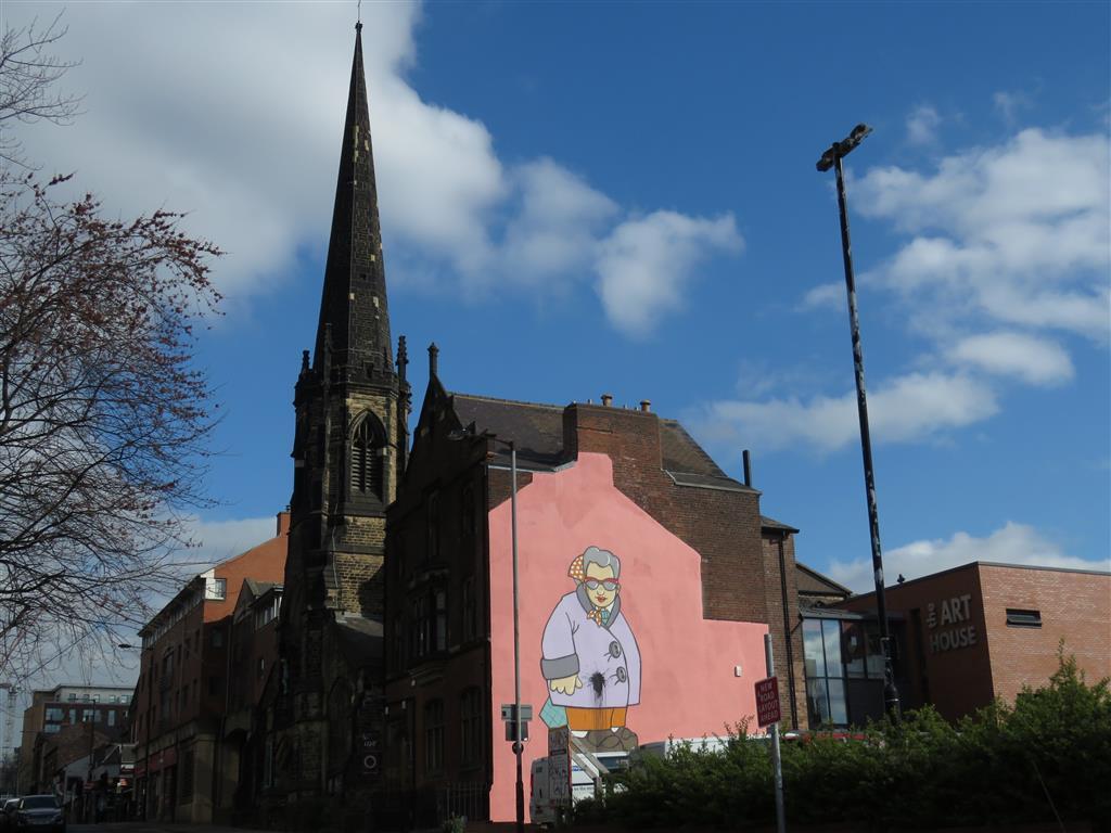 Street art in Sheffield, Yorkshire, UK