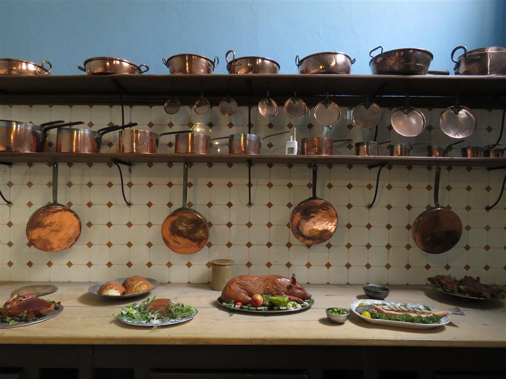 Inside the kitchen at Tredegar House, Wales