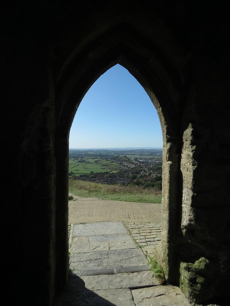 View from St. MIchael's, Glastonbury Tor, Somerset