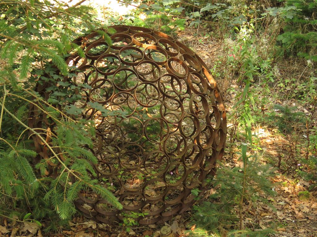 Sphere by Jayson Bayliss at the Cotswold Sculpture Park.
