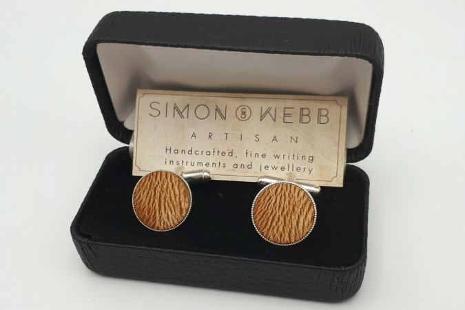 Cufflinks from the Jabberwocky tree made by Simon Webb.