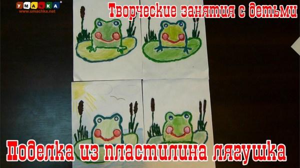 Творческие занятия с детьми Поделка из пластилина Лягушка ...