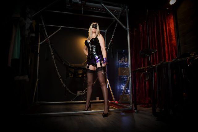 pegging and tie up area in the dungeon
