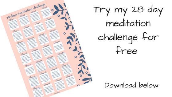 28 day mindfulness meditation challenge miss mental