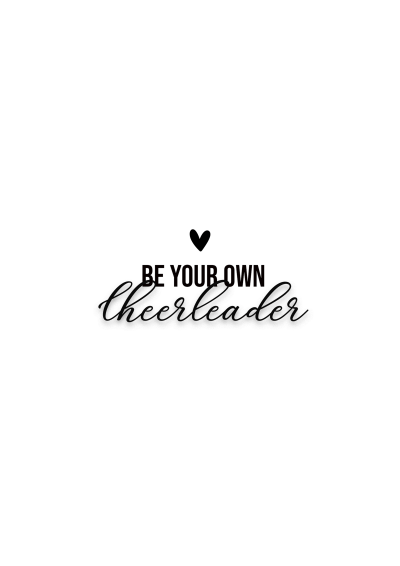 Be your own cheerleader quote wall art free printable home decor quote