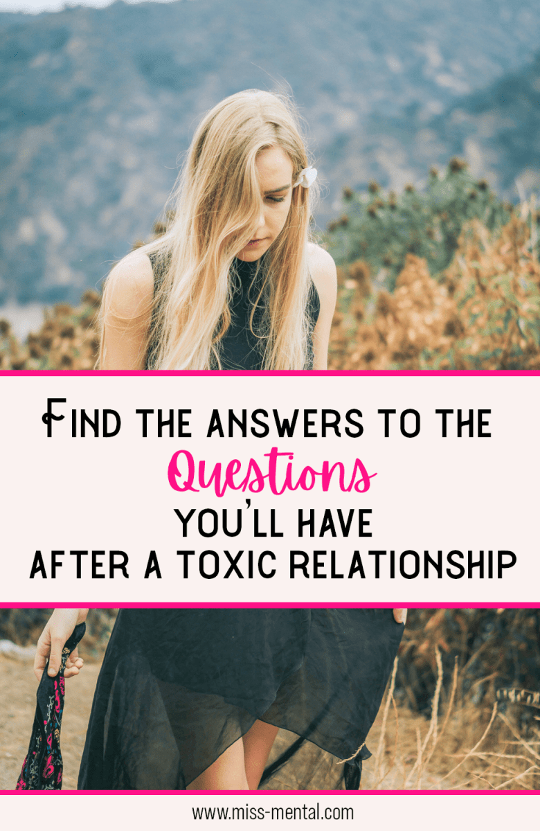 Questions you have after a relation ship with a narccist or toxic person. When you come out of a bad marriage or relationship you often feel alone and broken. Divorce leaves you with so many questions. I've tried to give you as much answers as possible as to how toxic people think and how you can let go of the bad relationship and start working on your own mental health and wellbeing.