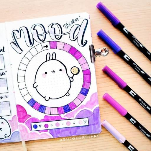 Colorful mood tracker inspiration for your bullet journal. by bujoforstars