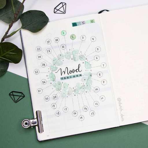 minimal mood tracker journal idea