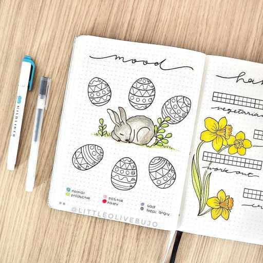 eastern mood tracker idea bullet journal inspiration
