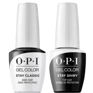 OPI GELCOLOR STAY CLASSIC AND SHINY BASE & TOP COAT DUO PACK