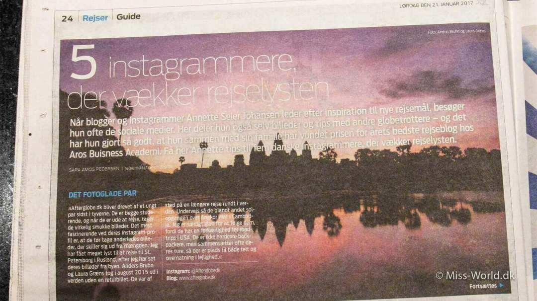5 instagrammere, der vækker rejselysten - artikel fra Jyllandsposten Rejser
