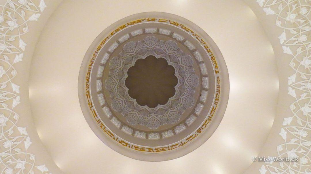 Sheikh Zayed Mosque Abu Dhabi - Inside the dome