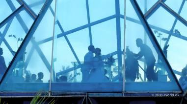 diamond shaped wedding chapel sanur