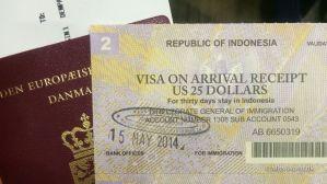 Visum til Bali Indonesien