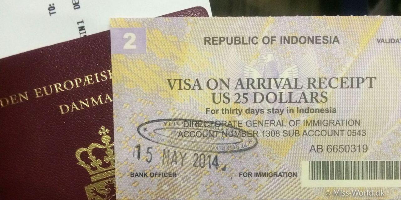 Sådan søger du visum til Bali, Indonesien