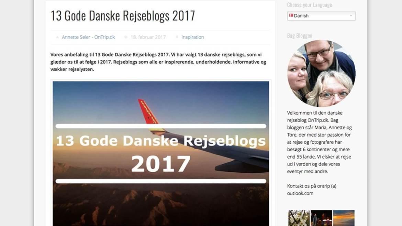 13 Gode Danske Rejseblogs 2017 fra OnTrip.dk