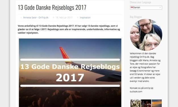 Miss-World anbefalet blandt 13 Gode Danske Rejseblogs
