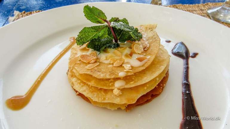 Dessert at Taros Café Restaurant Essaouira