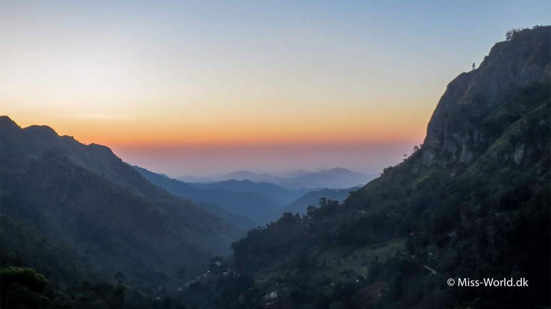 The Hill Country Ella Gap Sri Lanka - First Morning Light