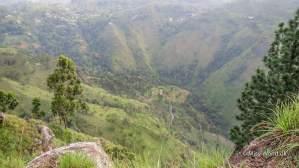 Udsigten fra Ella Rock i Ella Sri Lanka