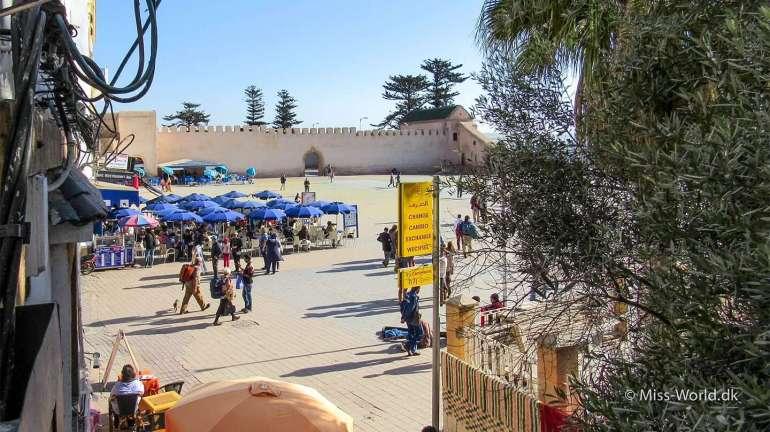 Essaouira Main Square - View from Taros Café Restaurant Essaouira Morocco