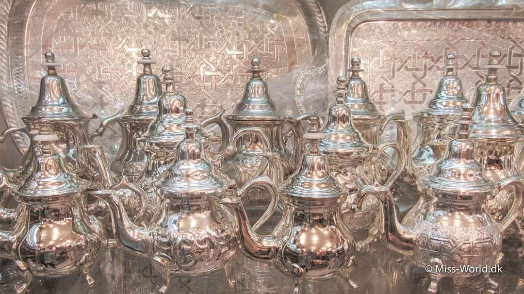 Marrakech silver jugs