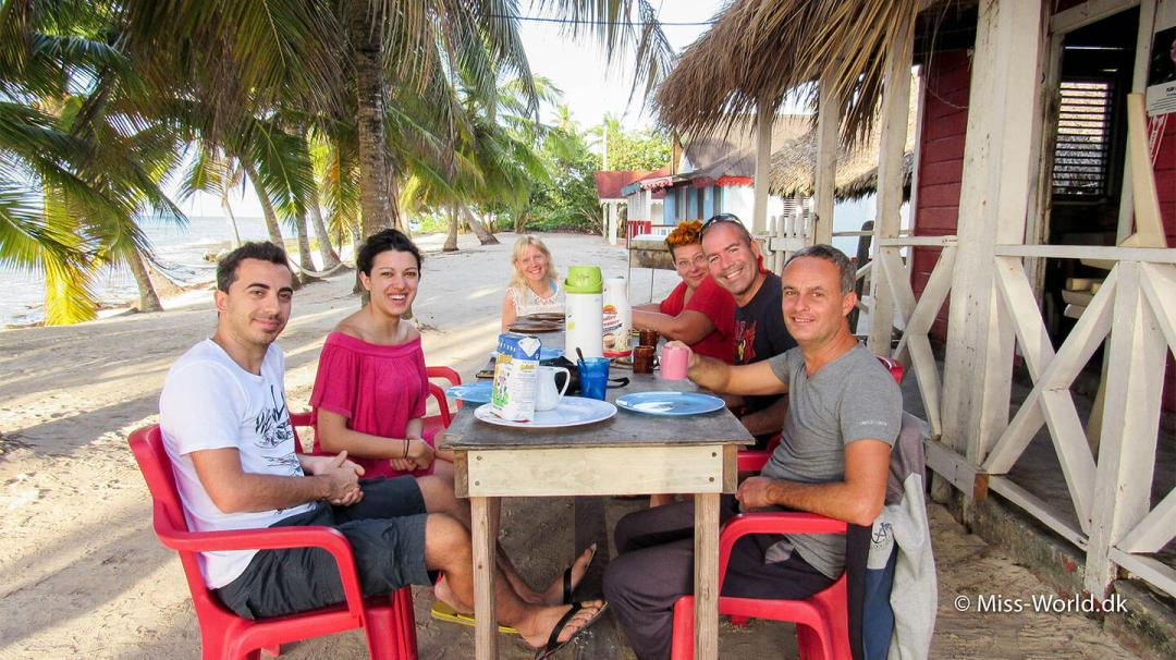New friends from the guesthouse in Saona Island Dominican Republik